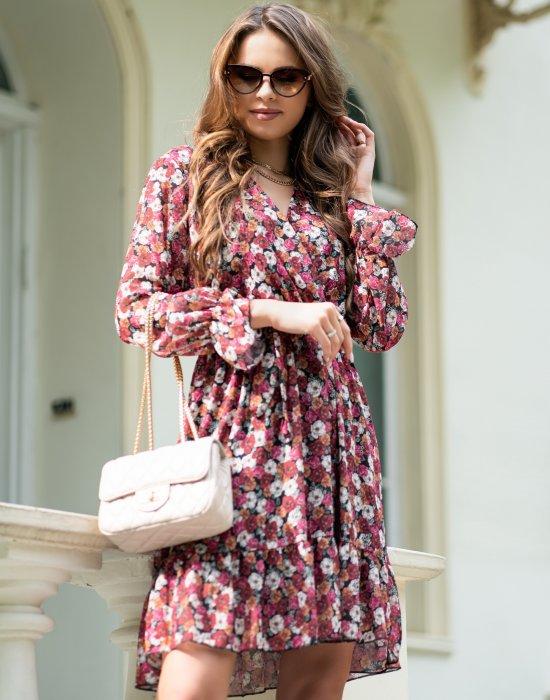 Къса рокля на цветя Mitaru, Merribel, Къси рокли - Modavel.com
