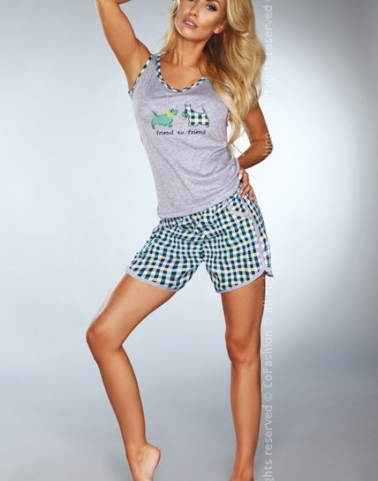Лятна дамска пижама в зелен цвят, CoFashion, Пижами - Modavel.com