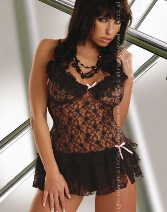Прозрачна нощница с прашки Christelle, LivCo Corsetti Fashion, Комплекти - Modavel.com