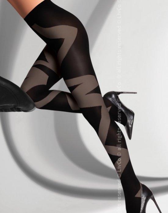Секси чорапогащник с графитен мотив Deanla 60 DEN, LivCo Corsetti Fashion, Чорапогащи - Modavel.com