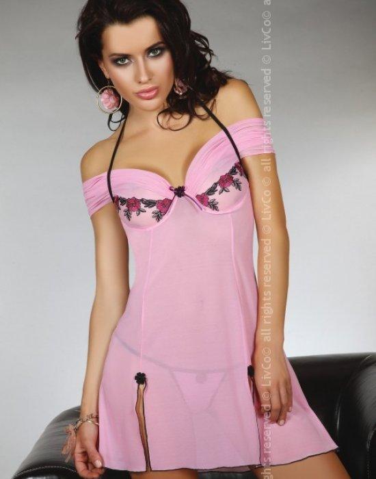 Секси нощница с прашки Chameli, LivCo Corsetti Fashion, Комплекти - Modavel.com