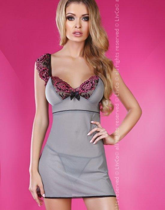 Секси нощница с прашки Midnight, LivCo Corsetti Fashion, Комплекти - Modavel.com