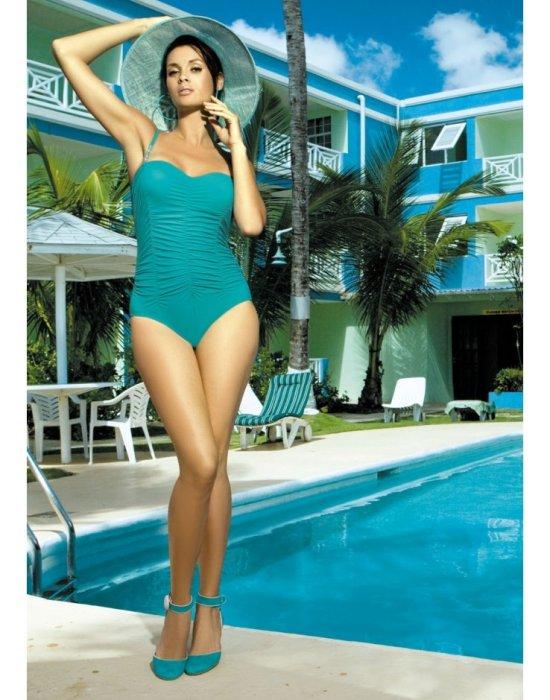 Цял бански костюм в цвят тюркоаз Gabrielle M-123-41, Marko, Цели бански - Modavel.com