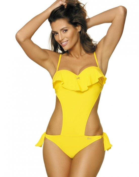 Цял бански костюм в жълто Carmen M-468-1, Marko, Цели бански - Modavel.com