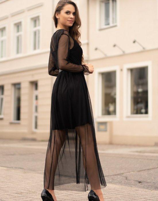 Черна дълга рокля Mariedam, Merribel, Дълги рокли - Modavel.com
