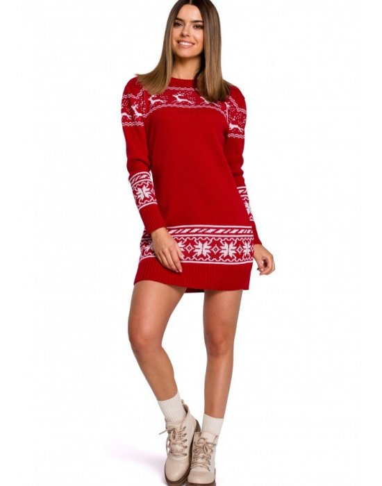 Коледна рокля в червено MOE MXS02, MOE, Коледни - Modavel.com