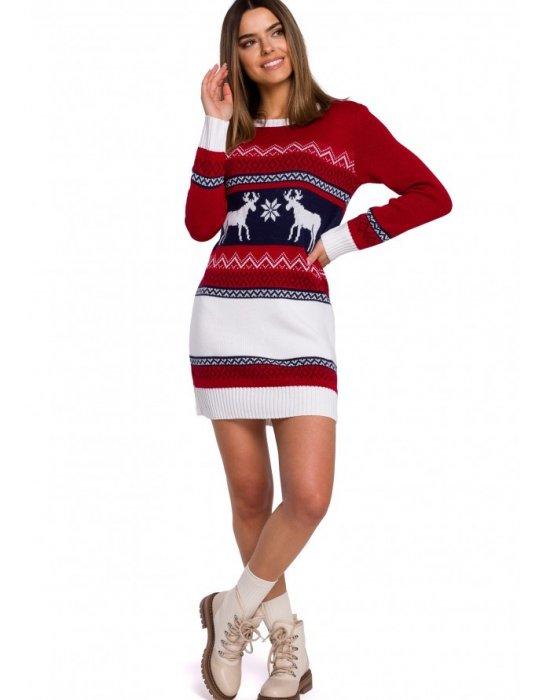 Коледна рокля в червено MOE MXS03, MOE, Коледни - Modavel.com