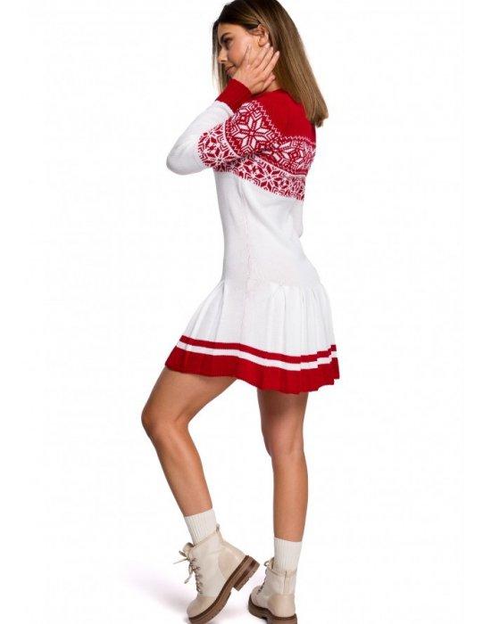 Коледна рокля в бяло MOE MXS01, MOE, Коледни - Modavel.com