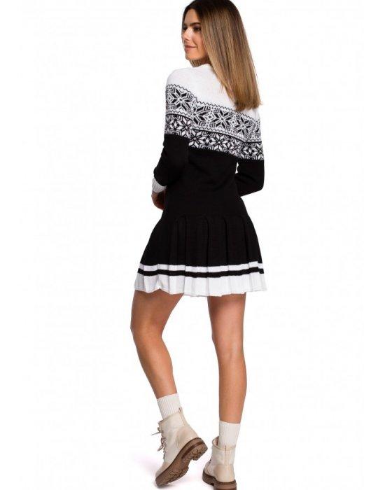 Коледна рокля в черно MOE MXS01, MOE, Коледни - Modavel.com