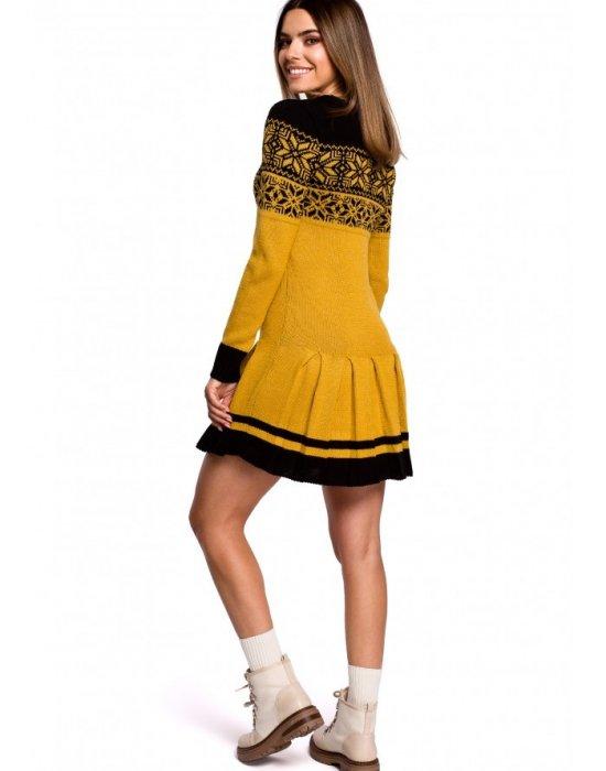Коледна рокля в жълто MOE MXS01, MOE, Коледни - Modavel.com