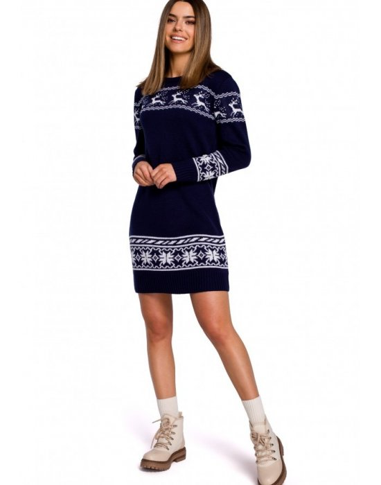 Коледна рокля в тъмносиньо MOE MXS02, MOE, Коледни - Modavel.com