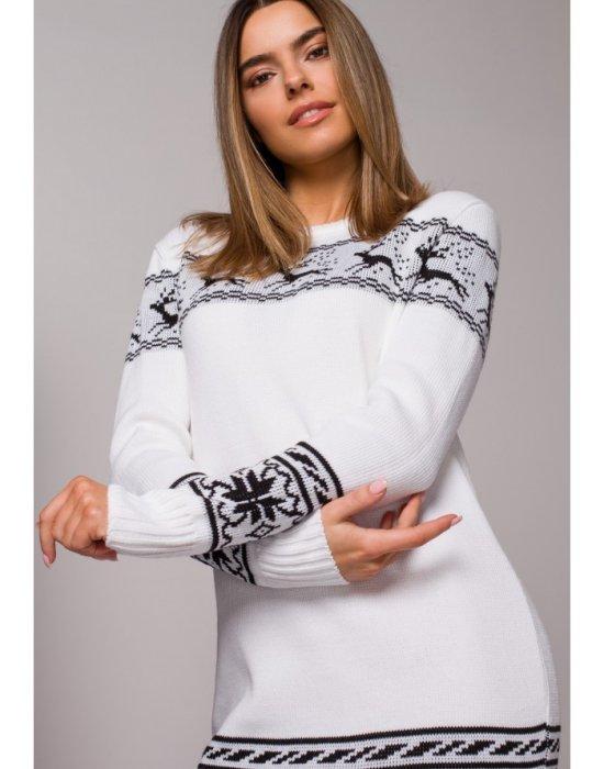 Коледна рокля в бяло MOE MXS02, MOE, Коледни - Modavel.com