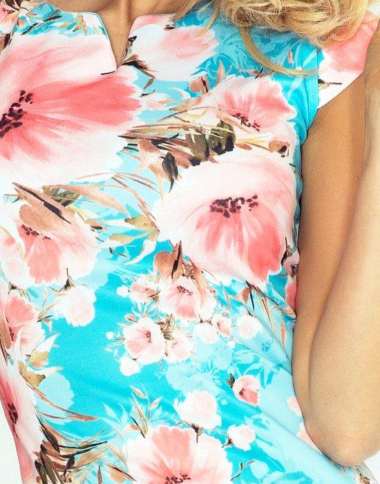 Елегантна мини рокля с къс ръкав 132-8, Numoco, Къси рокли - Modavel.com