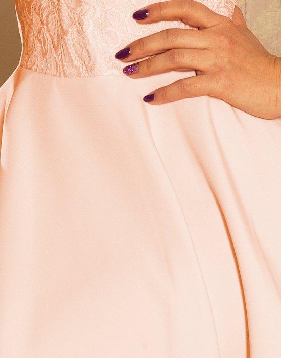 Елегантна мини рокля в цвят праскова 157-7, Numoco, Къси рокли - Modavel.com