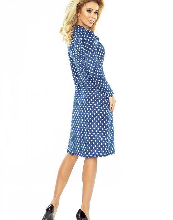 Елегантна миди рокля с дълъг ръкав 158-1, Numoco, Миди рокли - Modavel.com