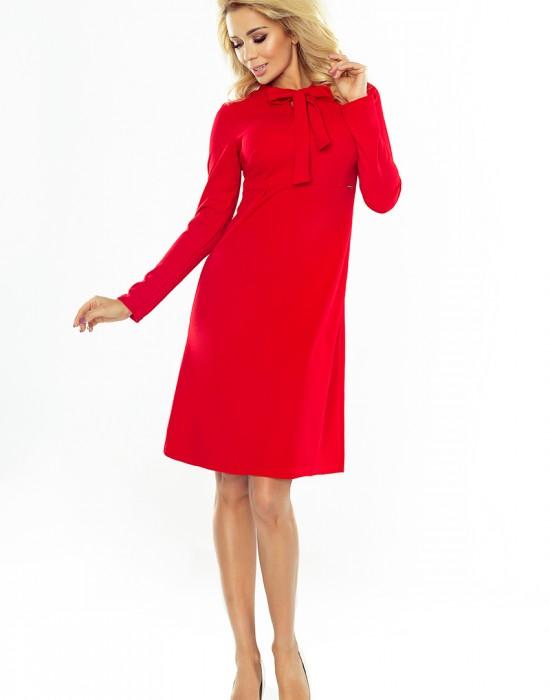 Елегантна миди рокля с дълъг ръкав 158-2, Numoco, Миди рокли - Modavel.com