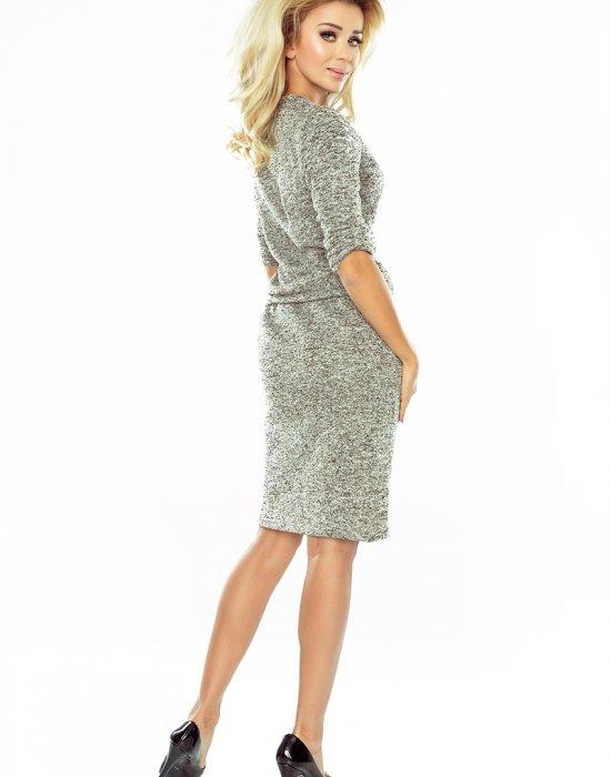 Спортно-елегантна миди рокля в сиво 161-14, Numoco, Миди рокли - Modavel.com