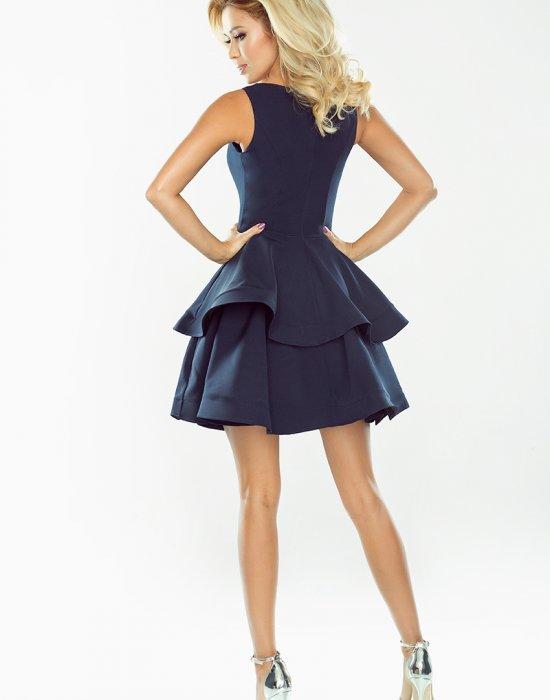 Официална къса рокля в тъмносин цвят 169-2, Numoco, Къси рокли - Modavel.com