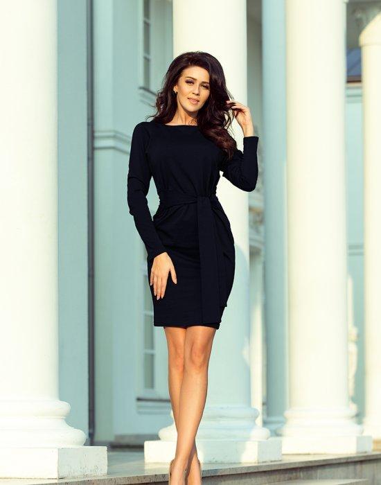 Ежедневна къса рокля в тъмносиньо 209-4, Numoco, Къси рокли - Modavel.com