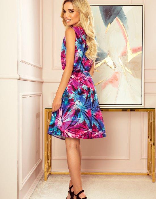 Цветна миди рокля 296-3, Numoco, Миди рокли - Modavel.com