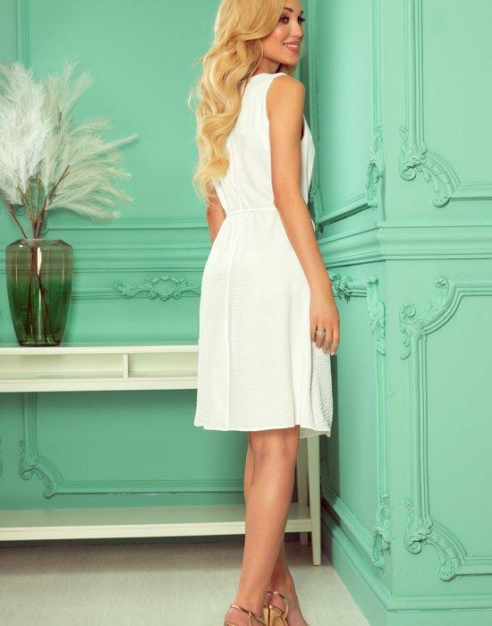 Елегантна рокля в цвят екрю 296-4, Numoco, Миди рокли - Modavel.com