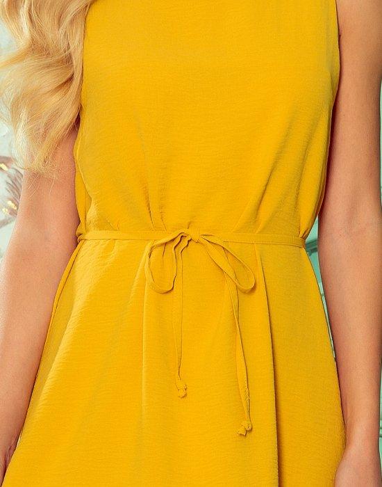 Ежедневна рокля в жълт цвят 296-5