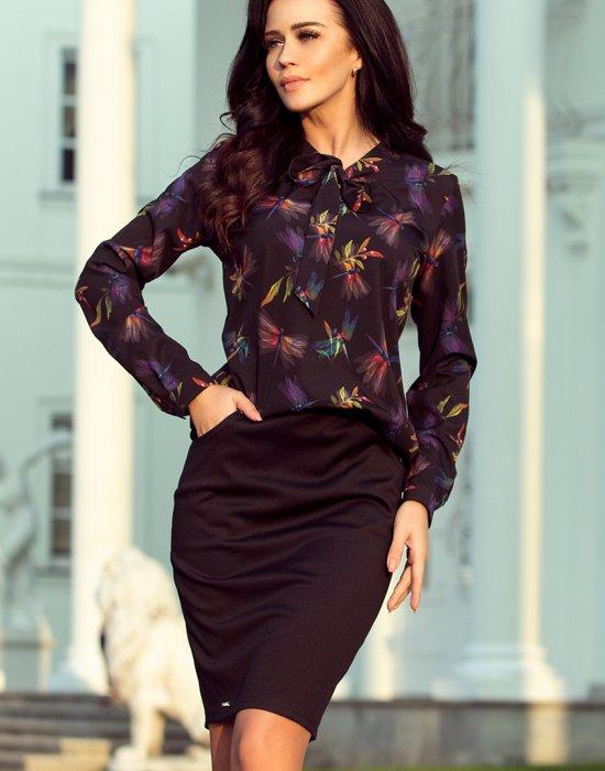 Черна дамска блуза 140-10, Numoco, Блузи / Топове - Modavel.com