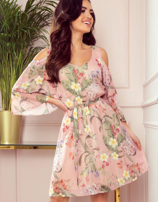 Ефирна рокля на цветя 292-1, Numoco, Дрехи - Modavel.com