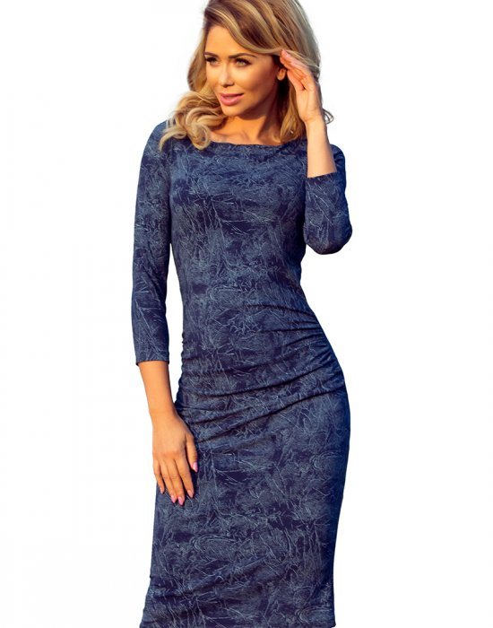 Елегантна миди рокля с 3/4 ръкав 59-9, Numoco, Миди рокли - Modavel.com