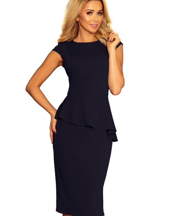 Елегантна миди рокля в тъмносин цвят 192-4, Numoco, Миди рокли - Modavel.com