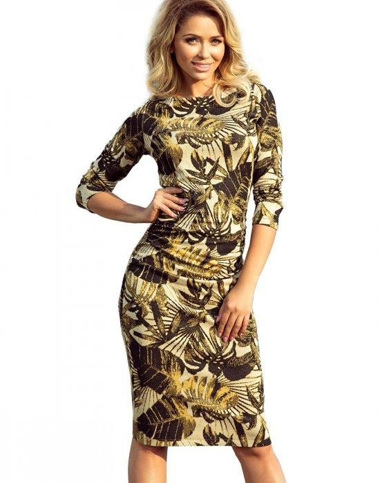 Елегантна миди рокля в зелено 59-8, Numoco, Миди рокли - Modavel.com