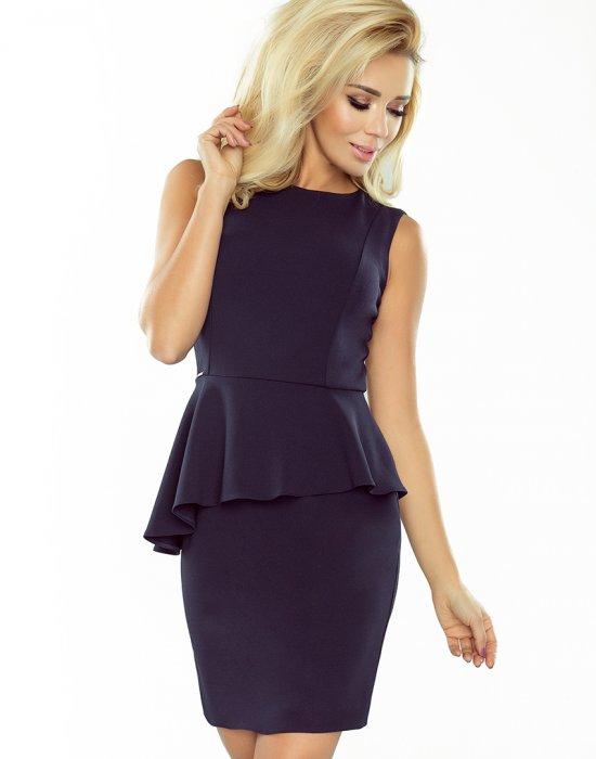 Тъмносиня мини рокля 178-2, Numoco, Къси рокли - Modavel.com