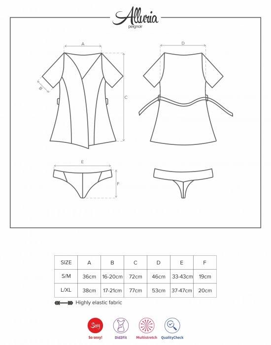 Комплект халат и прашки ALLURIA, Obsessive, Комплекти - Modavel.com