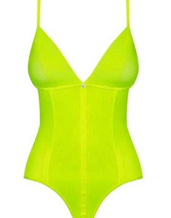 Секси боди в жълто-зелен неон Neonia, Obsessive, Секси Бодита - Modavel.com