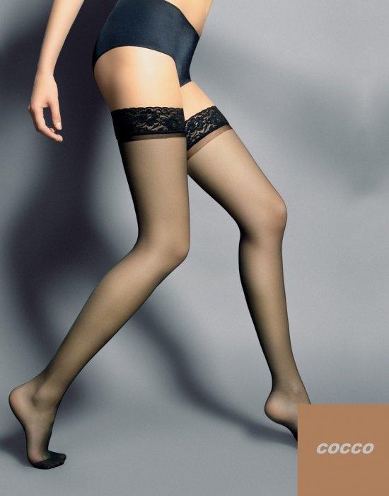 Дамски дълги чорапи в кафяв цвят Silvi Cocco 15 DEN, Veneziana, Чорапи - Modavel.com