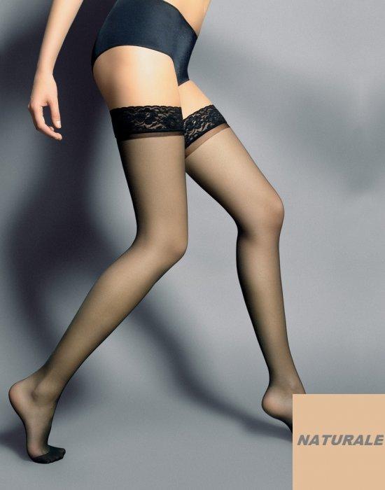 Дамски дълги чорапи в телесен цвят Silvi Naturale 15 DEN, Veneziana, Чорапи - Modavel.com