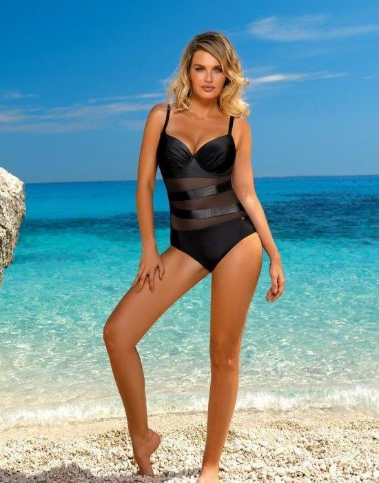 Цял бански костюм в черен цвят S964SK, Self, Бански 2021 - Modavel.com