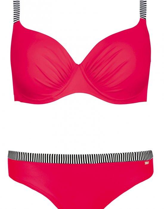 Червен бански костюм от две части S940 M7 V2, Self, Бански две части - Modavel.com