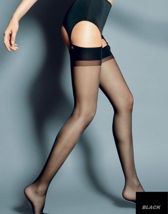 Дамски дълги чорапи в черен цвят Calze Nero 15 DEN, Veneziana, Чорапи - Modavel.com