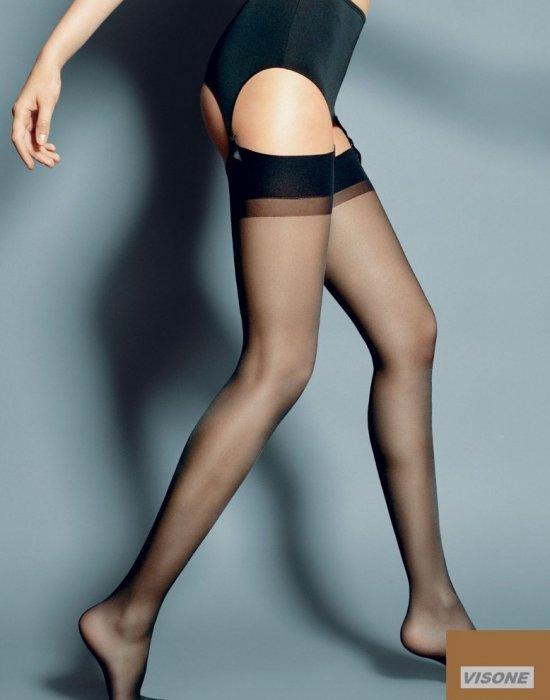 Дамски дълги чорапи в кафяв цвят Calze Visone 15 DEN, Veneziana, Чорапи - Modavel.com