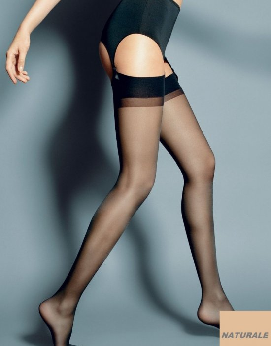 Дамски дълги чорапи в телесен цвят Calze Naturale 15 DEN, Veneziana, Чорапи - Modavel.com