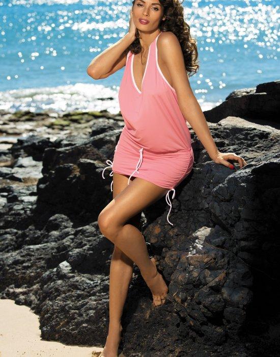 Плажна туника в цвят корал Elsa M-313-285, Marko, Плажни туники - Modavel.com