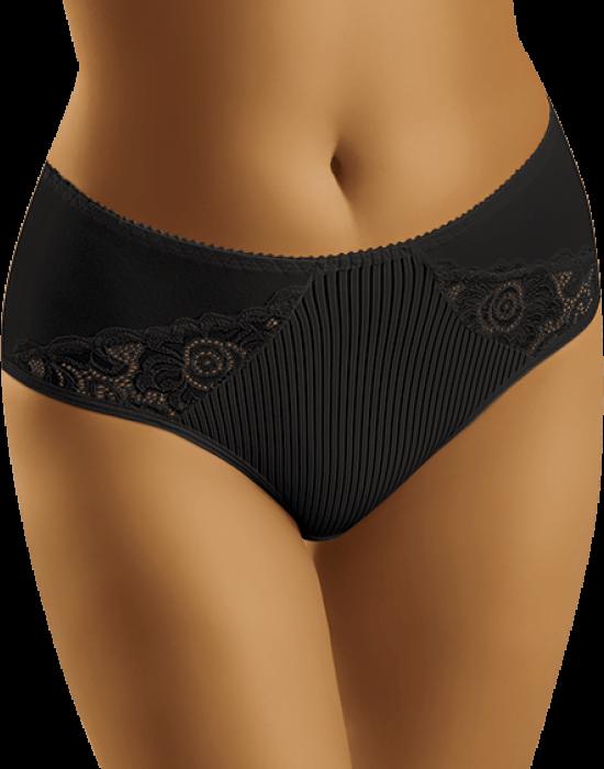 Гладки бикини с дантела в черен цвят Eco-Zi, Wolbar, Бикини - Modavel.com
