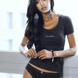 Черна дамска тениска Mais