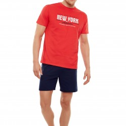 Мъжка пижама в червен цвят 33X