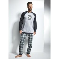Мъжка пижама в сиво-зелен цвят New York
