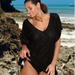 Плажна туника в черен цвят Kaya M-516-10