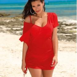 Плажна туника в червен цвят Kaya M-516-3
