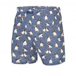 Сини мъжки боксерки с мотив на пингвини 016